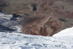 Chimborazo climbing Royalty Free Stock Images
