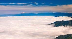Chimborazo från El Cajas arkivfoto