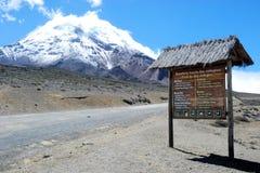 Chimborazo an inactive stratovolcano - Ecuador. Chimborazo an inactive stratovolcano and the highest snowy mountain in Ecuador royalty free stock images