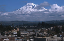 Chimborazo Riobamba Ecuador. Volcan Chimborazo is Ecuadors highest peak at 6,384,412 m. The summit of Chimborazo is widely reported to be the furthest point from royalty free stock images