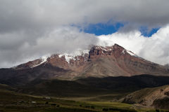 Chimborazo van Vulcano stock afbeelding