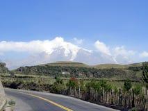 chimborazo volcan ecuador Arkivfoton