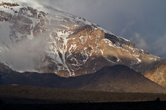 Chimborazo volcano in andean Ecuador Royalty Free Stock Photo