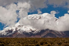 Chimborazo volcano in andean Ecuador Stock Photography