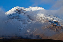 Chimborazo volcano in andean Ecuador Royalty Free Stock Photos