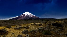 Chimborazo volcano in the andes of Ecuador, ring of fire
