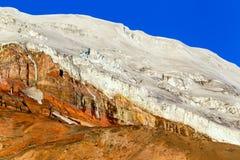 Chimborazo Volcano Glacier Arkivbilder