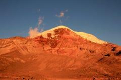 Chimborazo volcano, high andes, Ecuador Royalty Free Stock Image
