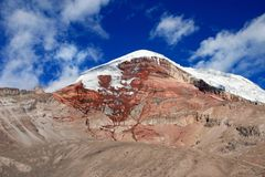 Chimborazo volcano, high andes, Ecuador Royalty Free Stock Photo