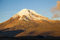 Chimborazo volcano at sunset. Royalty Free Stock Photo