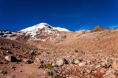 Chimborazo vulkan, Ecuador Fotografering för Bildbyråer