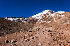 Chimborazo wulkan, Ekwador Fotografia Royalty Free