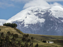 Chimborazo wulkan. Ekwador wysoki szczyt Obraz Royalty Free
