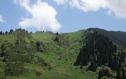 Chimbulak, il Kazakistan, Almaty Fotografia Stock