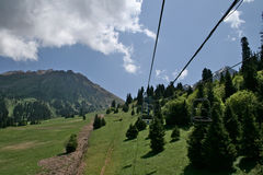 Chimbulak Kasakhstan, Almaty Royaltyfri Bild