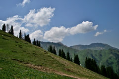 Chimbulak Kasakhstan, Almaty Fotografering för Bildbyråer