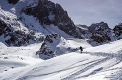 Chimbulak Schnee in den Bergen stockfotografie