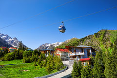 Chimbylak Ski Resort in Kazakhstan Royalty Free Stock Photos