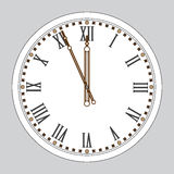 Chime. New Year`s watch. Wall clock Stock Image