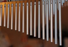 Chime tree with steel tubes for relaxation Stock Photo