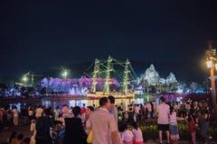Парад на курорте королевства океана Chimelong в Zhuhai, Китае стоковая фотография