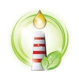 Chimenea de Eco con descensos del aceite Fotografía de archivo libre de regalías