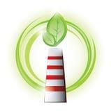 Chimenea de Eco con la planta Fotos de archivo