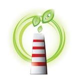Chimenea de Eco con las plantas Imagen de archivo libre de regalías