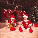 Chimenea de la Navidad Imagenes de archivo