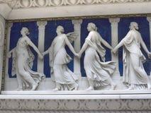 Chimenea de mármol en museo en el Wirral en Cheshire fotos de archivo libres de regalías
