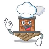 Chimenea del ladrillo del cocinero aislada en el carácter libre illustration