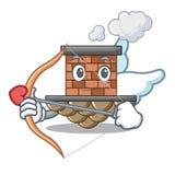 Chimenea del ladrillo del cupido en la mascota de la forma libre illustration