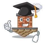 Chimenea del ladrillo de la graduación aislada en el carácter stock de ilustración