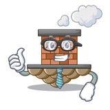 Chimenea del ladrillo del hombre de negocios aislada en el carácter ilustración del vector