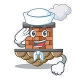 Chimenea del ladrillo del marinero en la mascota de la forma libre illustration