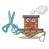 Chimenea del ladrillo del peluquero en la mascota de la forma ilustración del vector