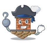 Chimenea del ladrillo del pirata en la mascota de la forma ilustración del vector