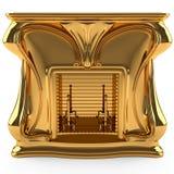 Chimenea del oro Imagen de archivo