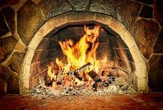chimenea Hogar caliente foto de archivo libre de regalías