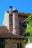 Chimenea Huesca Aragon Pyrenees de la aldea de Hecho Fotos de archivo