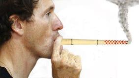 Chimenea que fuma Fotografía de archivo libre de regalías