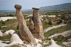 Chimeneas de hadas, Cappadocia Imágenes de archivo libres de regalías