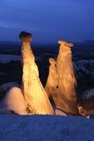 Chimeneas de hadas en Cappadocia Imágenes de archivo libres de regalías