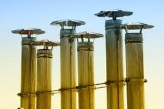 Chimeneas de la caldera industrial Fotografía de archivo libre de regalías