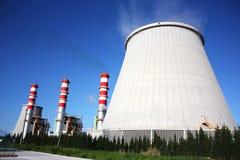 Chimeneas de la central eléctrica Imagen de archivo libre de regalías