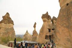Chimeneas de la hada de Cappadocia Foto de archivo libre de regalías