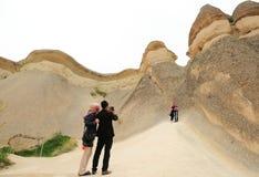 Chimeneas de la hada de Cappadocia Fotografía de archivo