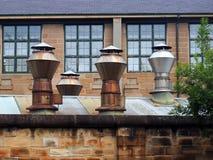 Chimeneas del horno de la cerámica Fotografía de archivo