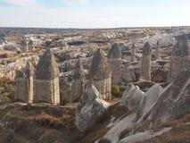 Chimeneas en Cappadocia Turquía Imagen de archivo