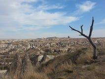 Chimeneas en Cappadocia Turquía Fotos de archivo libres de regalías